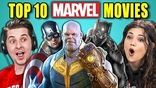 Video COLLEGE KIDS REACT TO TOP 10 MARVEL MOVIES OF ALL TIME MP3, 3GP, MP4, WEBM, AVI, FLV Mei 2018