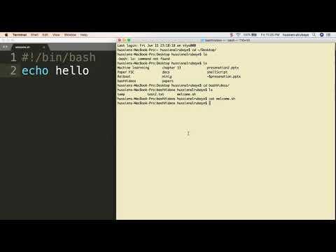 2-  Run first shell script    تنفيذ اول سكربت