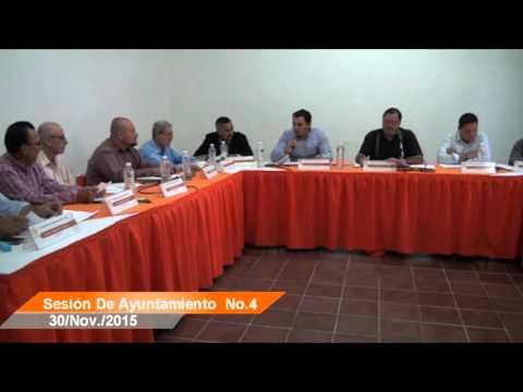 Sesión Ordinaria No. 4 de Ayuntamiento 30 de noviembre de 2015