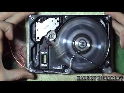 Соленоидный двигатель из жесткого диска
