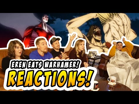 Armin Goes Colossal & Eren Eats Warhammer Reaction   S4E7 Reaction