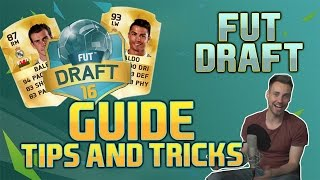 This is a tutorial guide on the new game mode in FIFA 16 Ultimate Team - FUT Draft. We give you our best top 10 tips and tricks how to build a good team with a high chemistry in FIFA 16 FUT Draft!▼Click here for additional information! :-)Other FIFA 16 tutorial videos:Passing with Purpose Tutorial: https://www.youtube.com/watch?v=fqzOn8eZ5eIRabona Shot Tutorial: https://www.youtube.com/watch?v=2cw_inmUdEUWe were invited to EA in Cologne and were already able to play the full version of FIFA 16 and also capture some FIFA 16 videos.The retail version of FIFA 16 will be release on 24th of September.• Pre-order FIFA 16 and support bPartGaming for free!http://goo.gl/qKCpM1Thanks!• Social MediaFacebook: http://bit.ly/bPG-FacebookTwitter: http://bit.ly/bPG-TwitterGoogle+: http://bit.ly/bPG-Googleplus
