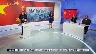 Přijetí čínského prezidenta v ČR