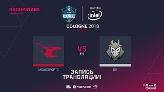 mousesports vs G2 - ESL One Cologne 2018 - map2 - de_mirage [GodMint, SleepSomeWhile]