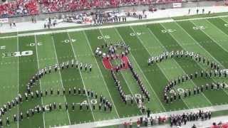 "Ohio State Marching Band ""Disney Tribute"" Halftime vs Buffalo: Aug. 31, 2013"