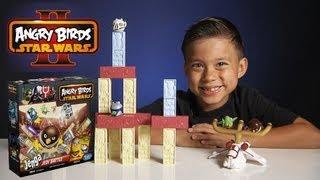 Jenga JEDI BATTLE GAME - Angry Birds STAR WARS II - Toys