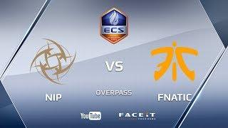 NiP vs fnatic, overpass, ECS Season 4 Europe