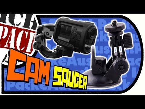 QUMOX - günstige Cam-Halterung fürs Auto - Saugnapf Car Charger für Action Cams (Unboxing/Test)