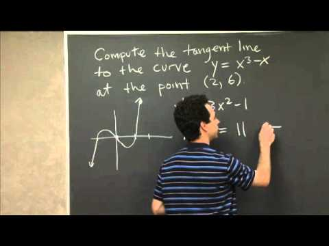 Tangent Line to a Polynomial | MIT 18.01SC Single Variable Calculus, Fall 2010