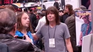 """Here is part 4 of 4 of Pat Travers at the 2012 Namm show, Enjoy...  Patrick Henry """"Pat"""" Travers (born April 12, 1954) is a Canadian rock guitarist, keyboardist and singer who began his recording career with Polydor Records in the mid-1970s. Pat Thrall, Nicko McBrain, Clive Edwards, Mick Dyche, Tommy Aldridge, Peter """"Mars"""" Cowling, Barry Dunaway, Jerry Riggs, Gunter Nezhoda, Carmine Appice and Michael Shrieve are some of the noted musicians who have been members of the Pat Travers Band through the years. Kirk Hammett of Metallica has cited him as one of his favorite guitar players."""