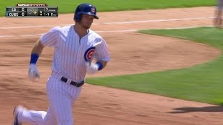 Ian Happ rocks a two-run homer to right field to open the scoring and give the Cubs a 2-0 lead in the bottom of the 4th inning ...