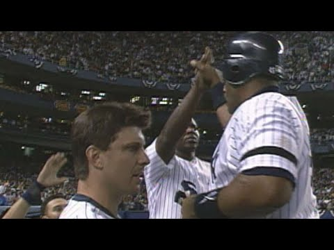 Video: 1996 ALDS Gm2: Fielder's single ties game in 8th