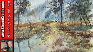How to paint a watercolour landscape from a photograph