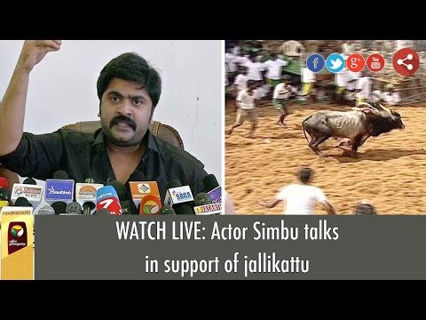 LIVE: Actor Simbu's Full Press Meet in Support of Jallikattu - Exclusive Video