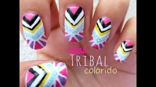 Uñas Trival Colorido - YouTube