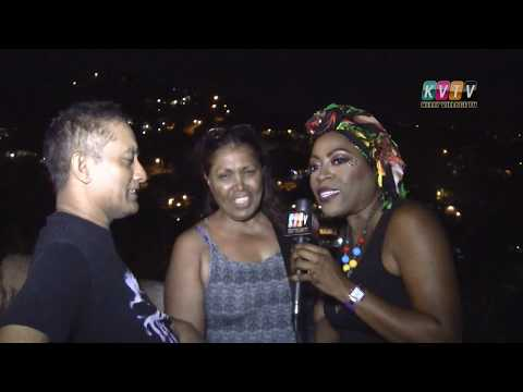 Liming with Juliet on Carnival Sunday night