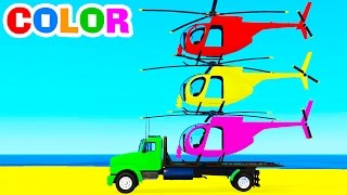Learn color with helicopterOther funny videos:Motorbike and carshttps://youtu.be/ZesCBhGJC7oPolice cars transportationhttps://youtu.be/hrd9qWGHvrcMcQueen transportationhttps://youtu.be/FglROP3f8rEColor Long Carshttps://youtu.be/PlSyTbqZ1msHelicopter on truckhttps://youtu.be/R4jZD6ZnqewSurprise Eggs with Pacmanhttps://youtu.be/SG9bl0bOGyk