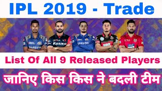 IPL 2019 - First List Of All The Players Released & Changed Their Team Before Mini Auction