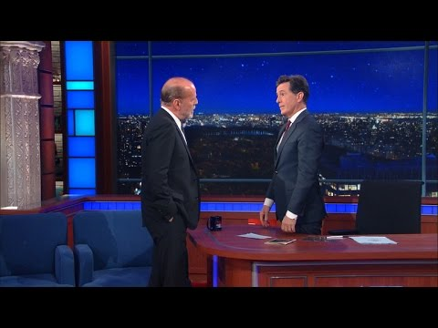 Bruce Willis tells Colbert that he does all his own stunts. Colbert calls him out.