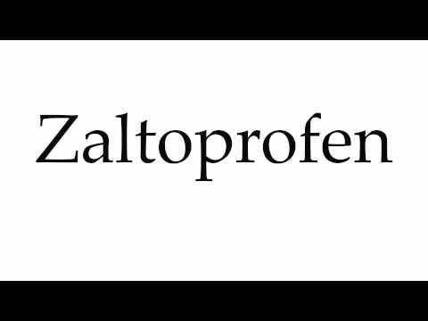 How to Pronounce Zaltoprofen