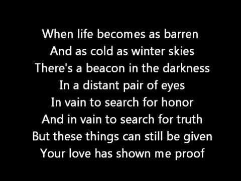 Rush-Madrigal (Lyrics)