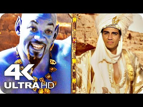 ALADDIN All Trailers 4K UHD (2019) Live Action Disney Movie
