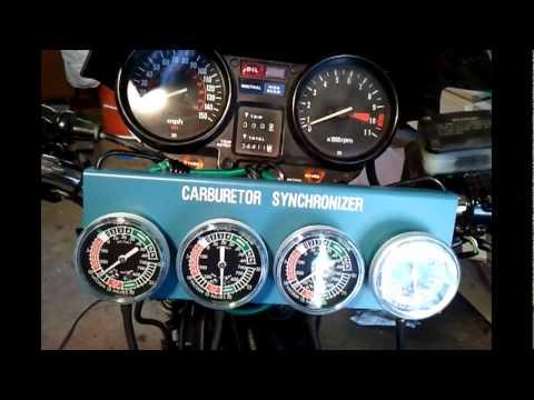 How to sync carbs on a honda 79 cb750k