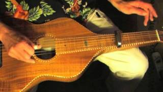 "Lesson Lap Slide Guitar - Free Tab - Part 1/5  ""Blues On My Lap"""