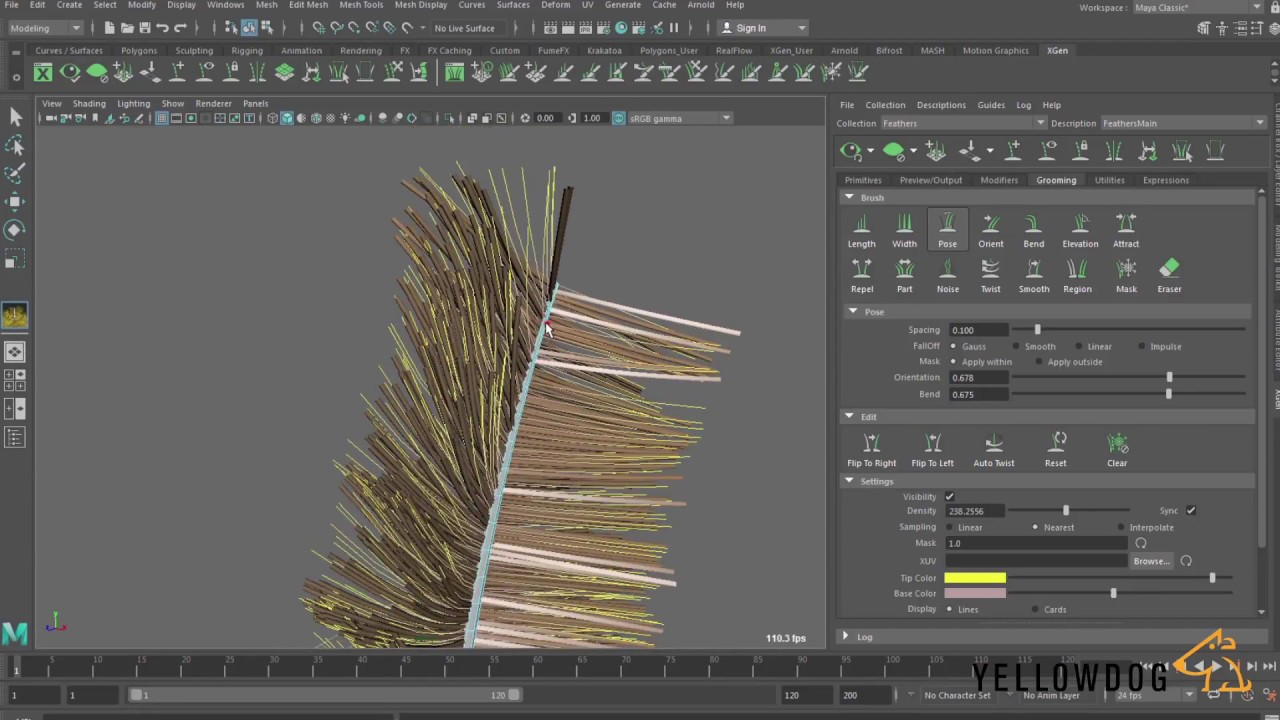modeling feathers blown wind 3d maya tutorial gabriel kerfoot