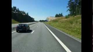 Truck driving Stockholm - Nynäshamn timelapse