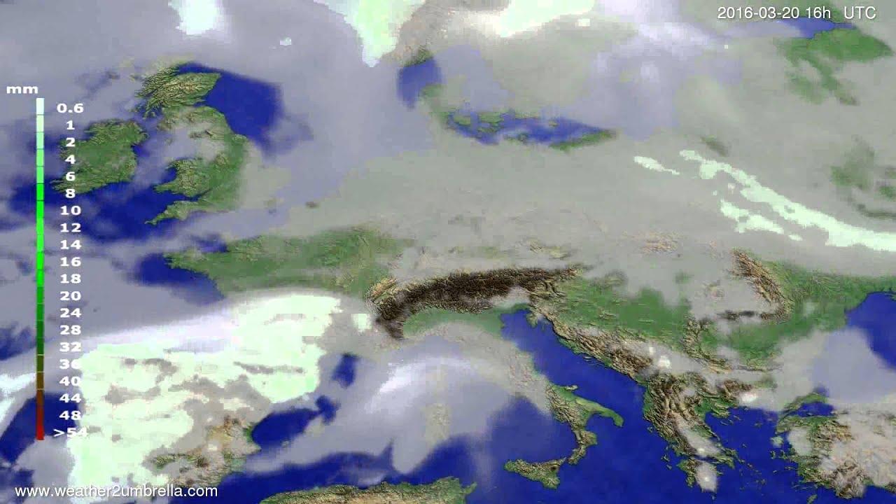 Precipitation forecast Europe 2016-03-17