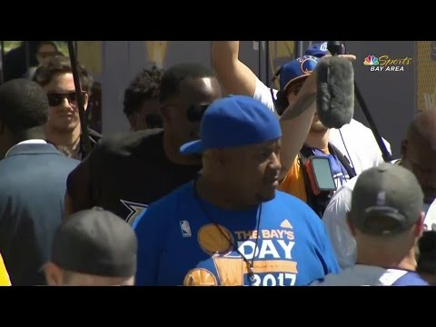 Video: Golden State Warriors' Draymond Green crashes TV set