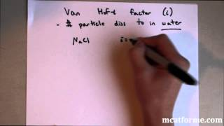 MCAT General Chemistry Lecture: Solutions