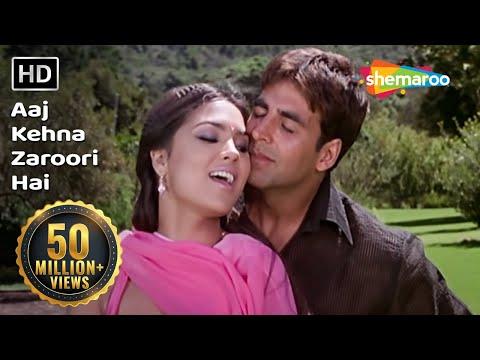 Aaj Kehna Zaroori Hai | Andaaz Songs | Akshay Kumar | Lara Dutta | Udit & Alka Hits | Filmigaane