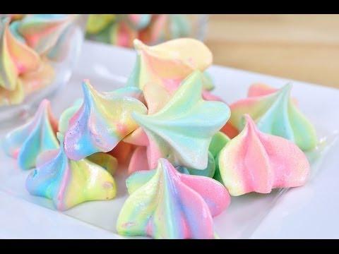 FoodTravelTVChannel - เมอแรงค์สายรุ้ง Rainbow Meringue...