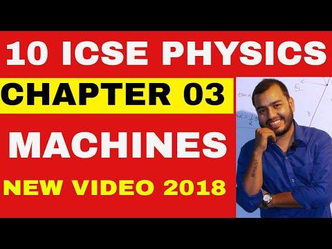 ICSE Class 10th PHYSICS: MACHINES 07: SUMMARY