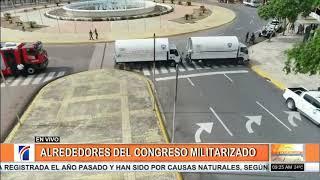 Dispositivo de seguridad ha incrementado en los alrededores del Congreso Nacional