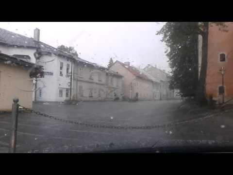 Krupobitie v Kremnici