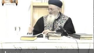 """הרב מרדכי אליהו – פרשת וישלח (ה'תשנ""""ט)"""