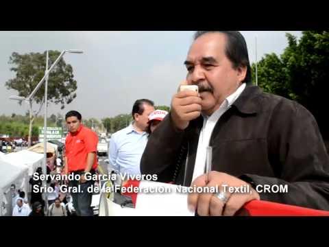 Plant�n de la CROM contra la ley a la reforma laboral en la C�mara de Diputados