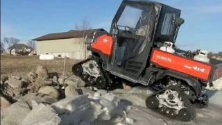 9. Kubota RTV900 diesel 4x4 with Mattracks ATV tracks