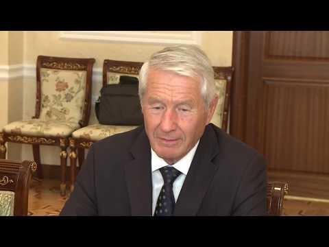 Președintele Republicii Moldova a avut o întrevedere cu delegația Consiliului Europei, condusă de Secretarul General, dl Thorbjorn Jagland