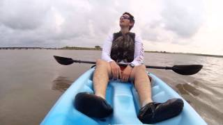 Kayak ride at Oso Bay in Corpus Christi, Texas with Go Pro HD Hero 3.