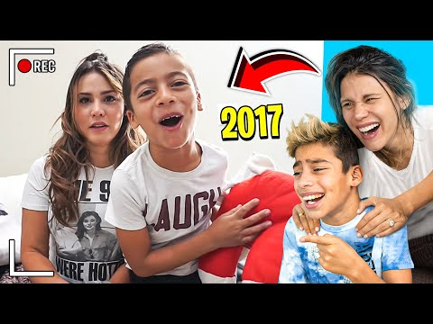 REACTING To Our FIRST EVER YOUTUBE VIDEO!!! (SO CRINGE) 😂 | The Royalty Family