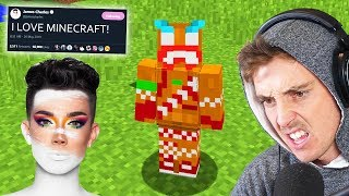 playing minecraft so james charles will collab