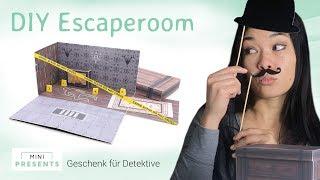 DIY Escape Room Geschenk zum Geburtstag | DIY Bastelidee + Geschenkidee | mini-presents.com