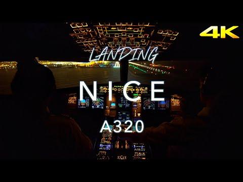 NICE | A320 LANDING 4K