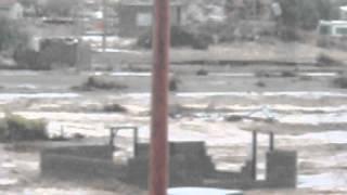 Efectos de Odile en Bahía de los Ángeles, delegación al sur del municipio de Ensenada Baja California. Ubicada en costas del...