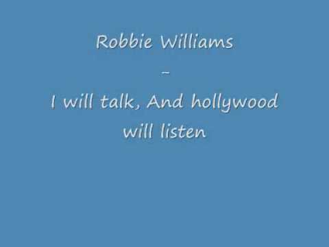 I Will Talk and Hollywood Will Listen