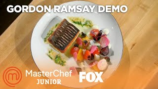 Video Gordon Ramsay's Pan Roasted Sea Bass With Cauliflower Puree | Season 5 | MASTERCHEF JUNIOR MP3, 3GP, MP4, WEBM, AVI, FLV Mei 2019